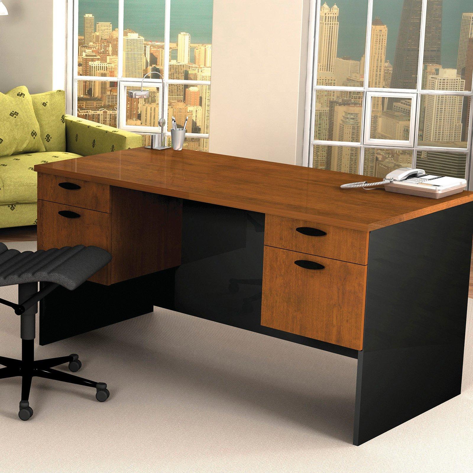 Bestar Hampton Executive Computer Desk Tuscany Brown