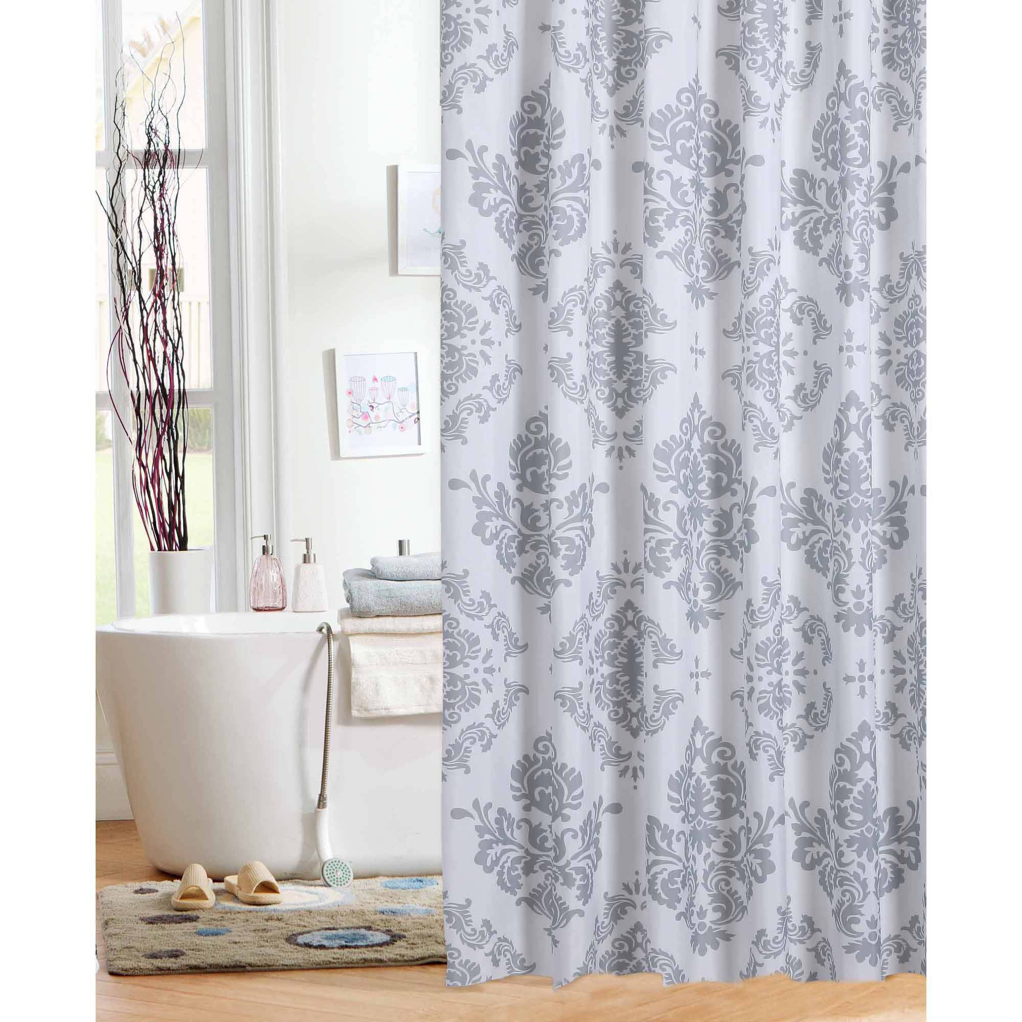 Mustache shower curtain - Mainstays Classic Noir Shower Curtain