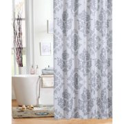 white and silver shower curtain. Mainstays Classic Noir Shower Curtain Curtains  Walmart com
