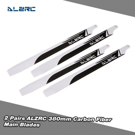 2 Pairs ALZRC 380mm Carbon Fiber Main for Devil 380 FAST 470L RC Helicopter