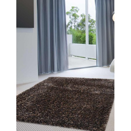 Black And White Carpet Runner (Rugsotic Carpets Hand Tufted Polyester Solid Area Rug K00111-Color:Black Silver,Material:Polyester,Shape:Rectangle,Size:8' x)