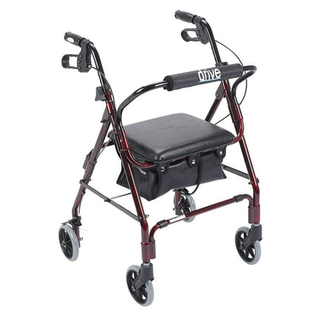Drive Medical Winnie Mimi Lite Deluxe Aluminum Rollator  Flame Red
