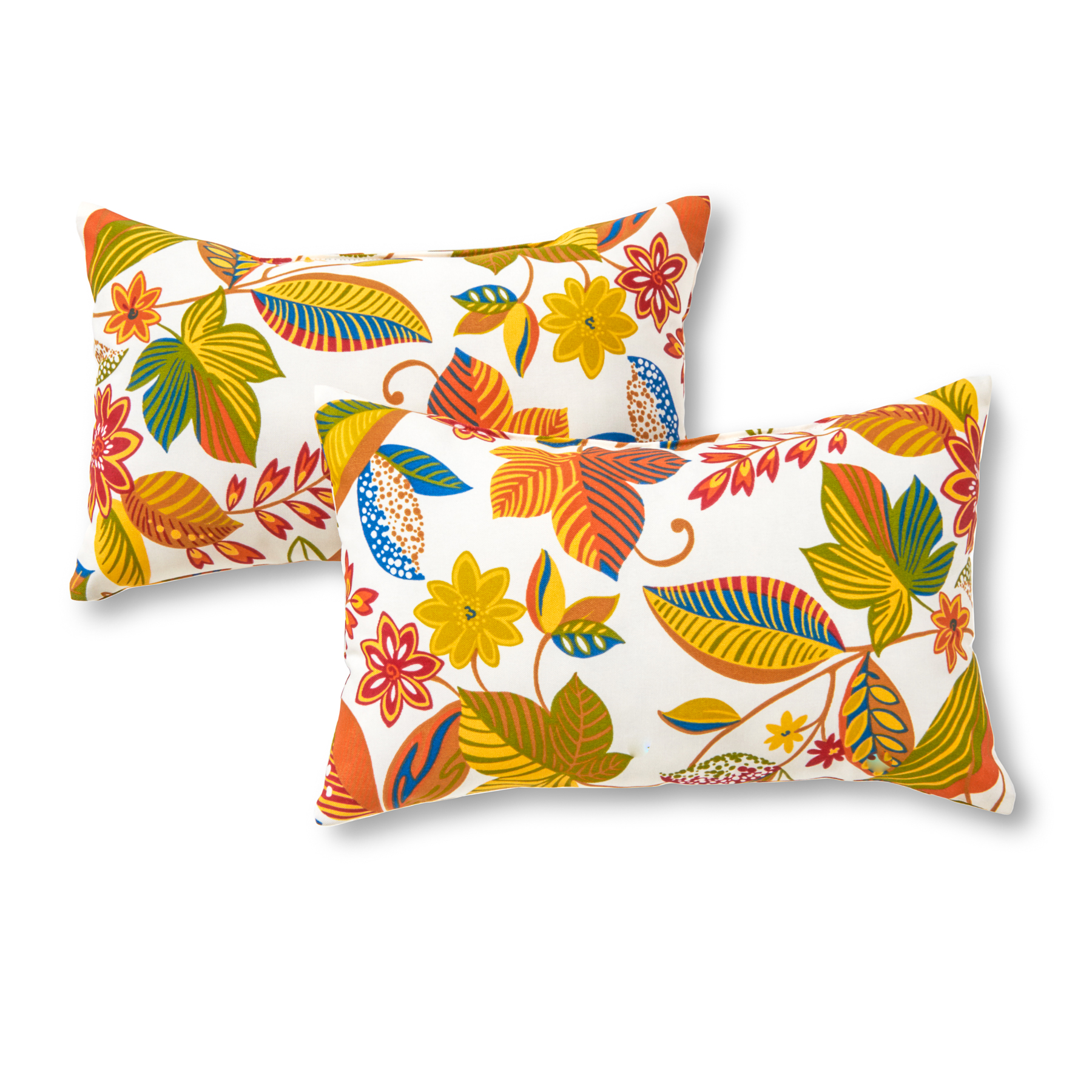Greendale Home Fashions Esprit Floral Rectangle Outdoor Accent Pillow, Set of 2