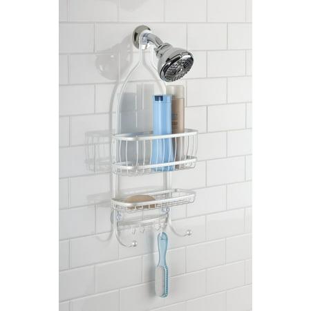 York Lyra Bathroom Jumbo Shower Caddy Shelves Bronze 16 X 4 X
