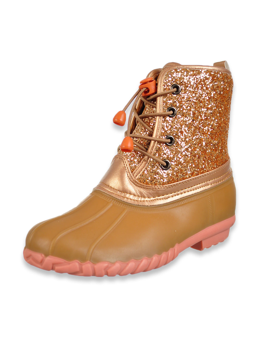 Olivia Miller Girls' Glitter Duck Boots