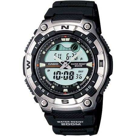 Casio Men's Multi-Function Tide Graph Watch, Black Resin Strap