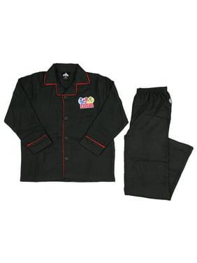 Power Rangers Longsleeve Coat Front Pajama Set