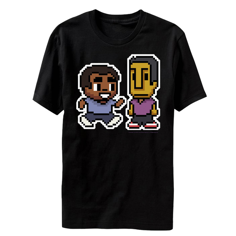 Community Troy and Abed Characters NBC TV Series Sitcom Adult T-Shirt Tee