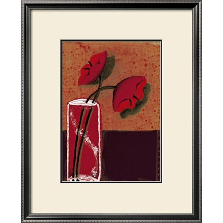 Potted Flowers III Framed Art Print Wall Art  By Monica Ibanez - 25x31