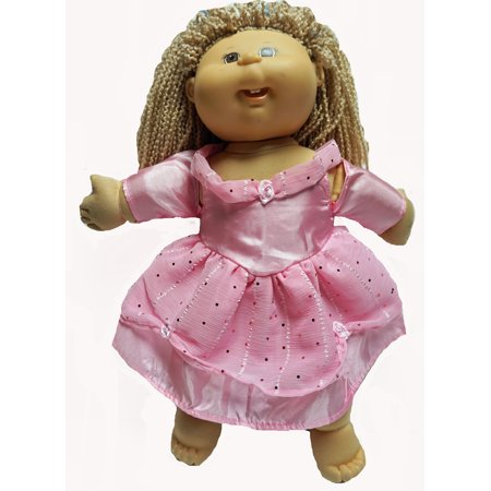 Pink Princess With Designer Material Fits Cabbage Patch Kid Dolls
