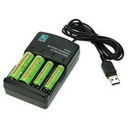 A4tech 141 0359 Chargeur de batterie USB Ni-mh pour AA et AAA - image 1 de 1