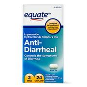 Equate Anti-Diarrheal Caplets, 2 mg, 24 count