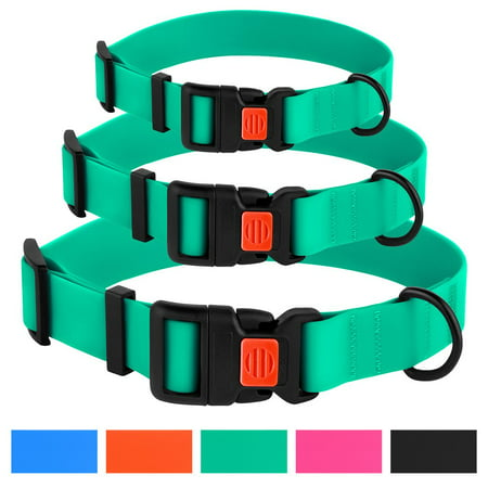 Adjustable Dog Collar Waterproof Pet Collars for Medium Dogs with Buckle, Mint Green
