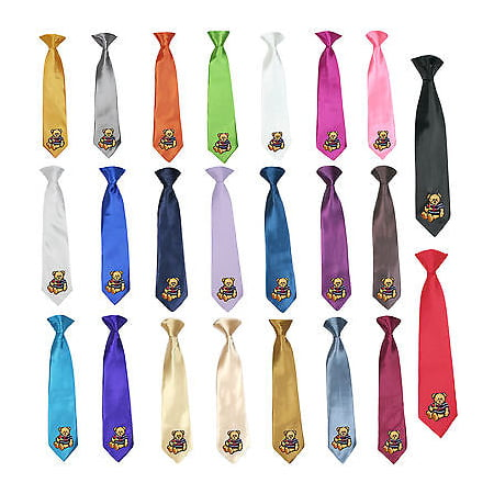 Stain Solid 23 Color Clip-on Nautical Bear Necktie Boys Formal Suits Newborn - 7 - Nautical Tie
