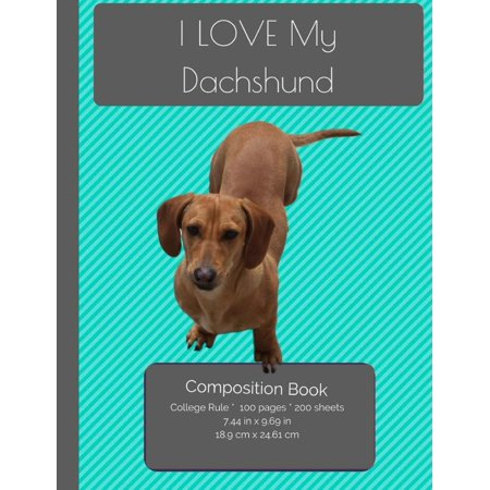I Love My Dachshund Composition Notebook: College Ruled Writer's Notebook for School / Teacher / Office / Student [ Softback * Perfect Bound * Large ]