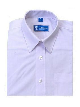 Boys White Short Sleeve Button Front Uniform Dress Shirt