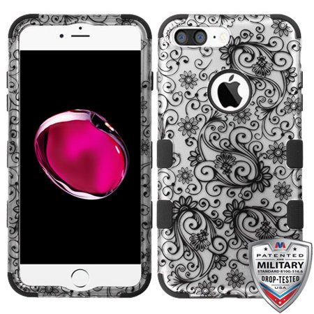 For iPhone 7 / 8 Plus 2D TUFF Hybrid Case Impact Armor Phone Protector