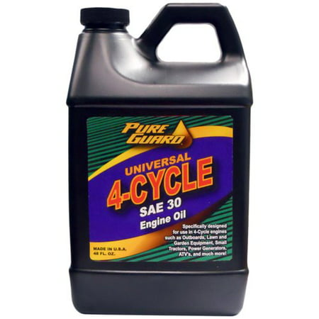 Pure guard universal 4 cycle oil sae 30w 48 oz for How to get motor oil out of jeans
