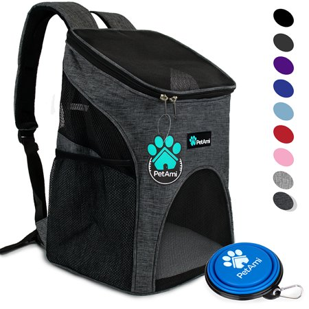 PetAmi Premium Pet Carrier Backpack for Small Cats and Dogs | Ventilated Design, Safety Strap, Buckle Support | Designed for Travel, Hiking & Outdoor - Small Pet Travel Gear