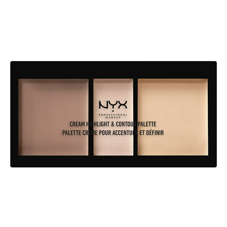 NYX Professional Makeup Cream Highlight & Contour Palette, Light - Extreme Contouring Halloween