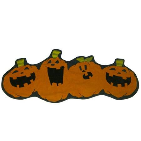 Boo & Co Halloween Pumpkin Patch Jack-O-Lantern Table Runner 15x37 - Diy Halloween Table Runner