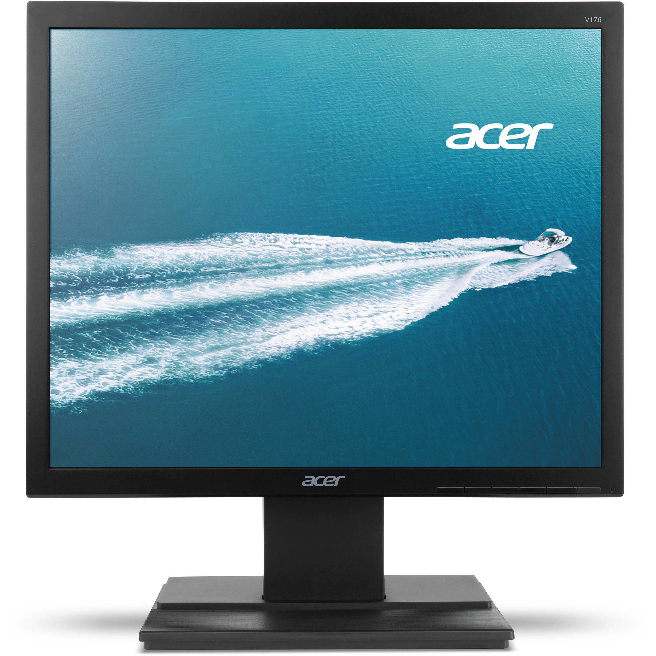 "Acer 17"" LCD Widescreen Monitor Display SXGA Screen 1280 x 1024 Black |V176LBD | Manufacturer Refurbished"