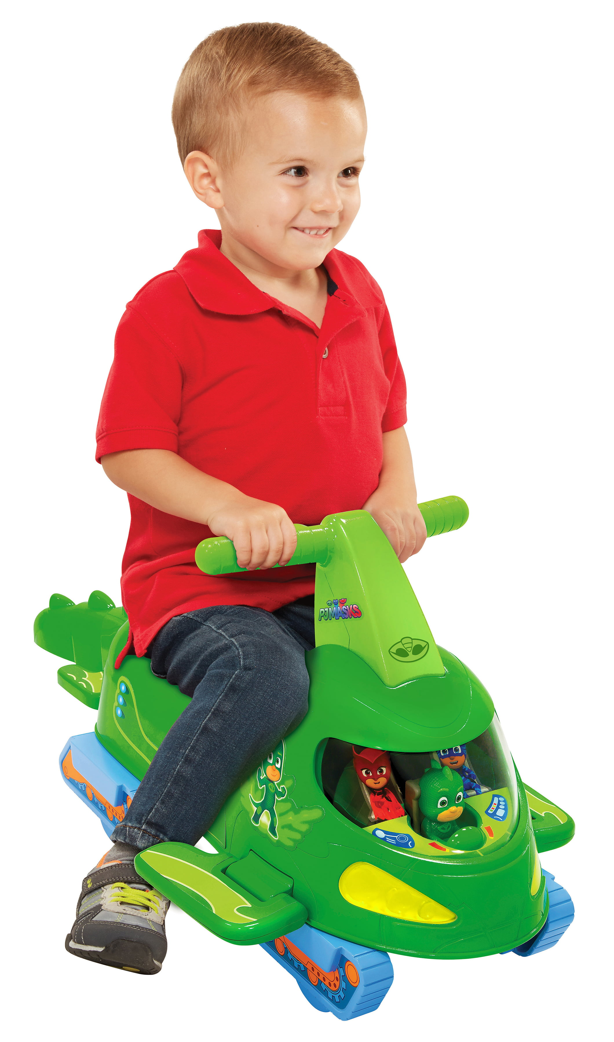 PJ Masks Deluxe Gekko Mobile Ride-on Vehicle with Moving Tail