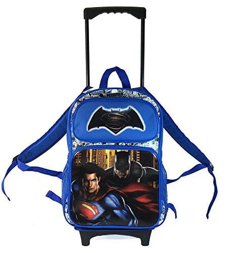 "DC Comis Batman vs Superman 16/"" Large Blue Messenger Backpack School Book Bag"