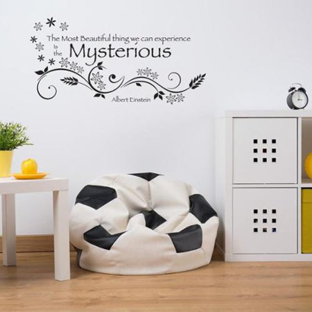 mysterious wall decal vinyl art home decor quotes and sayings copper