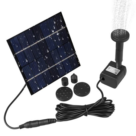 EEEKit Solar Fountain Water Pump for Bird Bath Solar Panel Kit, Solar Powered Fountain Pump 1.2W Outdoor Solar Water Fountain with 4 Sprinkler Heads for Small Pond, Pool, Fish Tank, Patio Garden, Lawn ()