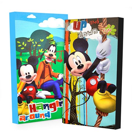 Disney Mickey Mouse Glow In The Dark 2 Pack Canvas Wall Art