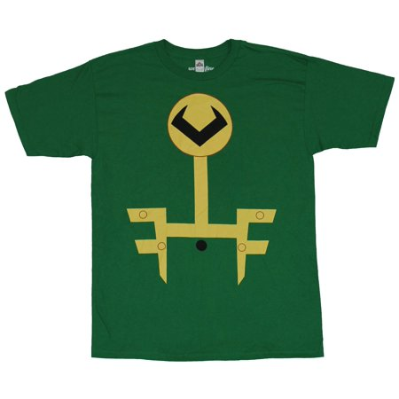 Thor (Marvel Comics) Mens T-Shirt - Simplistic Loki Costume Front Image - Loki Costume For Sale