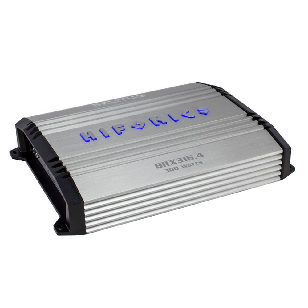 Hifonics Brutus 300W RMS 4 Channel A/B Class Car Audio Power Amplifier