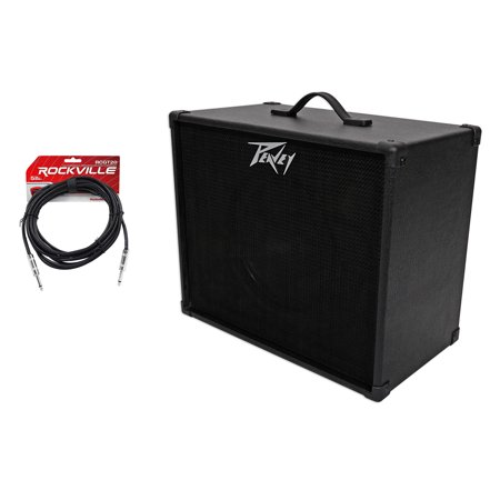 peavey 112 extension cabinet w 12 blue speaker 20 ft guitar cable. Black Bedroom Furniture Sets. Home Design Ideas