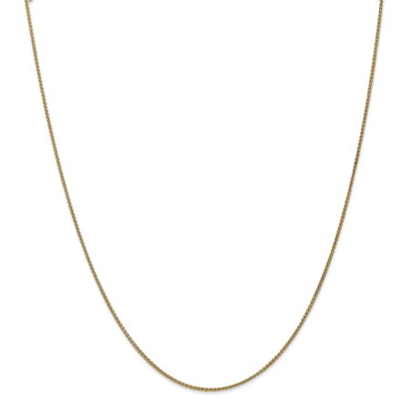 14k Yellow Gold 1.25mm Spiga Chain Necklace 30 Inch Pendant Charm Wheat Fine Jewelry For Women Gifts For Her - image 8 of 8