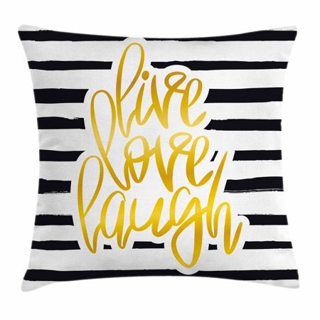 Live Laugh Love Decor Throw Pillow Cushion Cover Romantic Poster