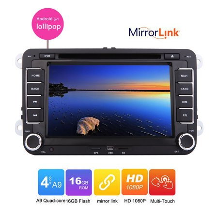Eincar Android 5.1 lollipop Car DVD player for VW Golf 5 6 Polo Passat CC Jetta Tiguan Touran EOS Sharan Scirocco Caddy GPS Radio bluetooth wifi mirror link canbus capacitive touch screen support (Best Golf Caddy App Android)