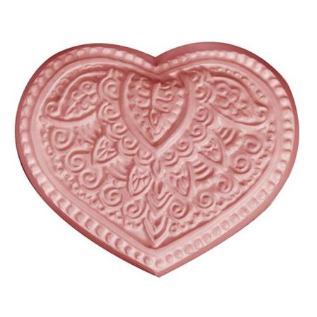 Milky Way Clear PVC Henna Heart Soap Mold - Melt & Pour, Cold Process