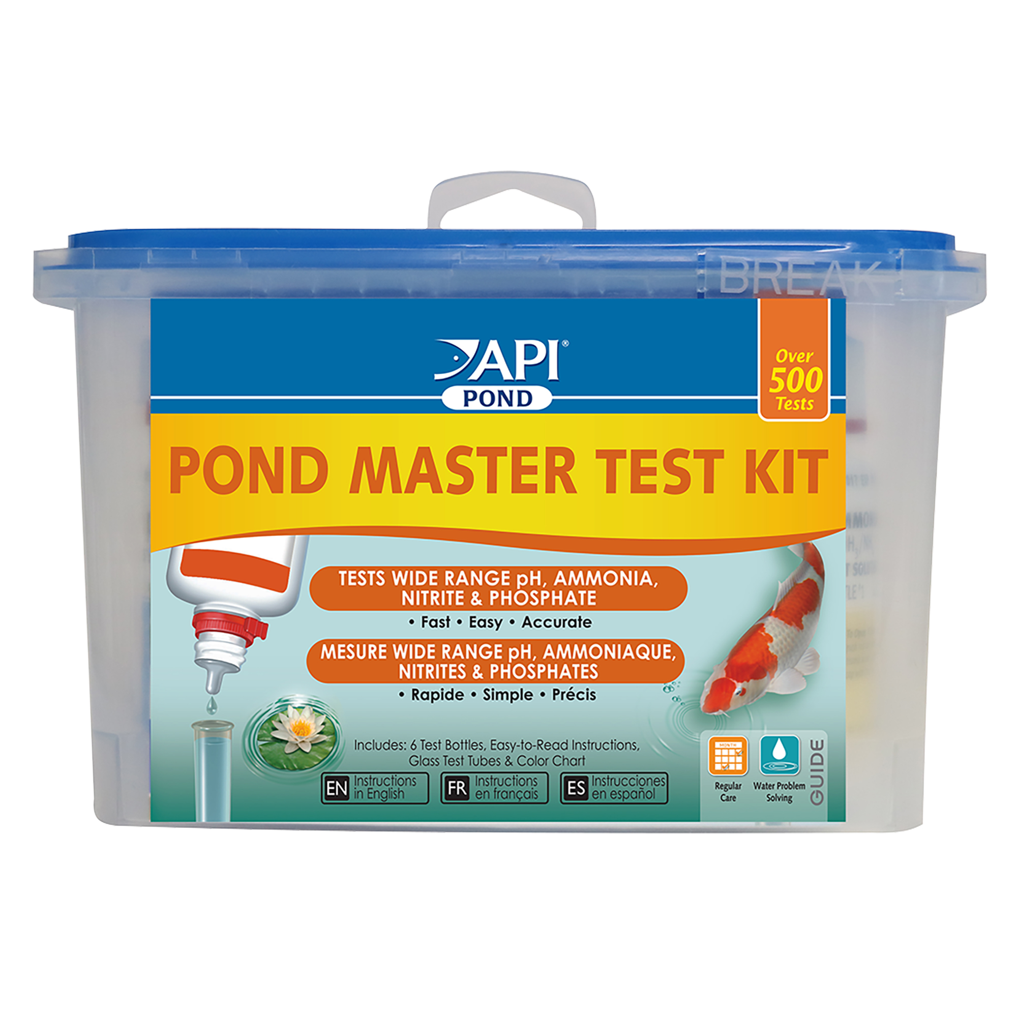 API Pond Master Test Kit, Pond Water Test Kit, 500-Test