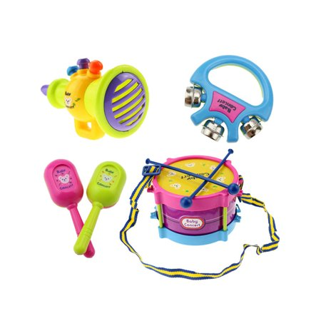 MAXSUN Baby Drum Musical Instruments Band Kit Early Educational Fun Toy Gift 5PCS/Set