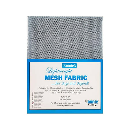By Annie Mesh Fabric Lightweight 18x54 Pewter ()
