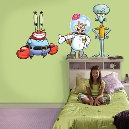 Fathead Nickelodeon SpongeBob SquarePants Friends Wall Decal - Spongebob wall decals