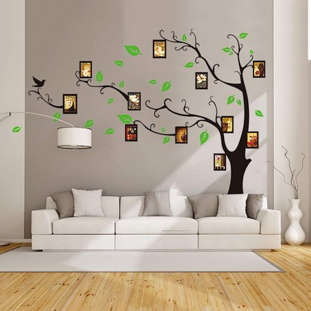 M Way Large Family Tree Wall Decal Mural Peel Amp Stick