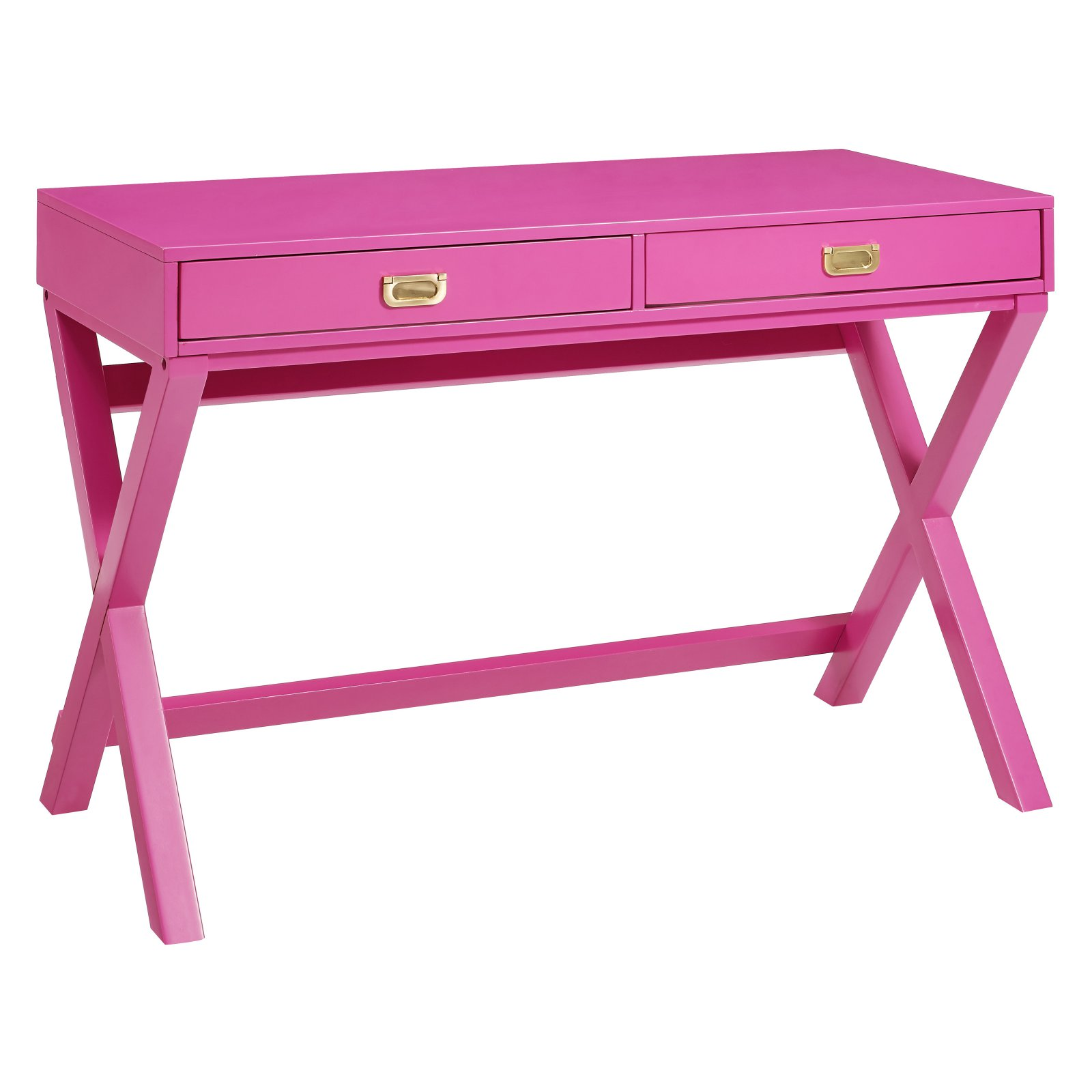 Linon Paige Writing Desk, Raspberry, 2 Drawers, 30 inches Tall
