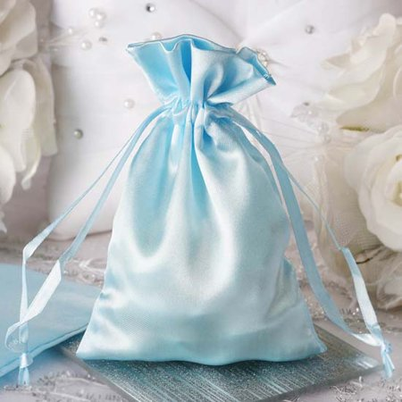 ace582fb631f Efavormart 12PCS Satin Gift Bag Drawstring Pouch for Wedding Party Favor  Jewelry Candy Solid Satin Bags - 4
