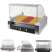 Ktaxon Commercial 30 Hot Dog 11 Roller Grill Hotdog Cooker Machine W Cover
