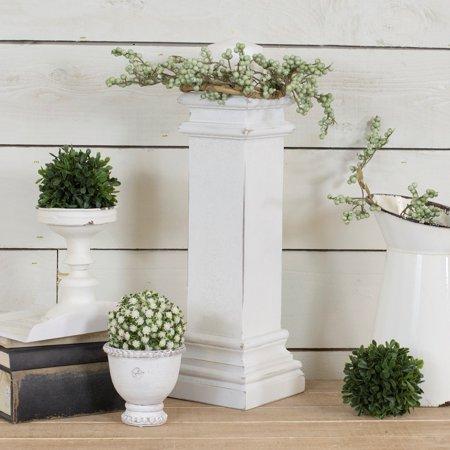 - American Mercantile Wooden Decorative Pedestal