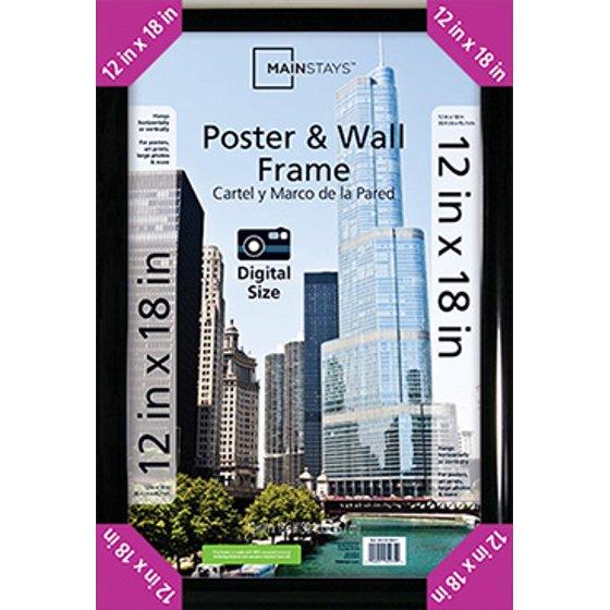 Mainstays 12x18 Trendsetter Poster Frame, Black - Walmart.com