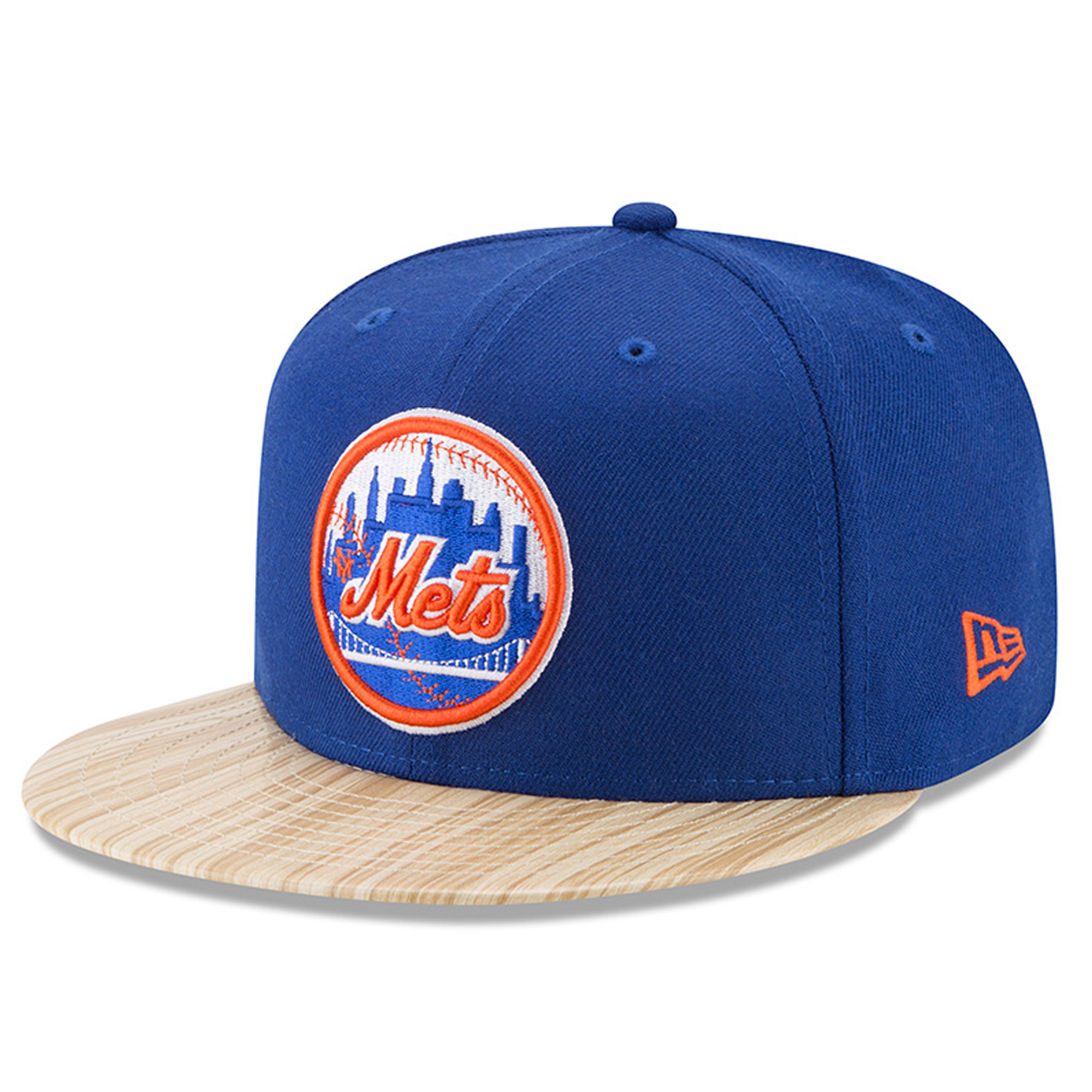 New York Mets New Era 1987 Topps Collaboration 9FIFTY Adjustable Hat - Royal/Tan - OSFA