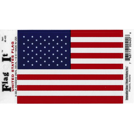 "United States Flag Car Decal Sticker [Pack of 2 - Red/White/Blue - 3.25"" x 4.75""]"